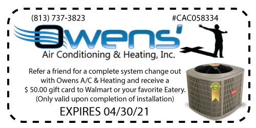 Owens' AC - Refer a Friend Coupon