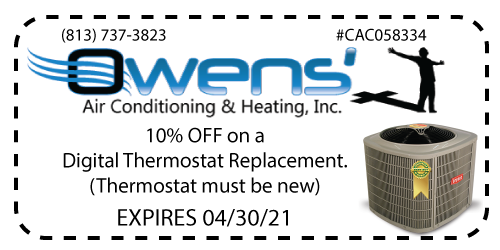 Owens' AC - Thermostat Coupon